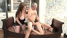 They surrender their gorgeous bodies to that cock and experience overwhelming pleasure