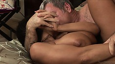 MILF with incredible titties gets her pussy creamed by her lover
