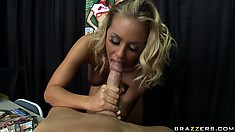 Her perfect ass and sweet pussy get licked and she returns the favor by sucking his cock