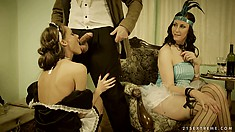 M'Lord wants to bang the scullery maid but his mistress won't have it