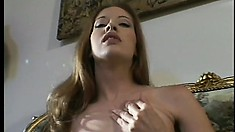 Gwen Summers pleases her body with a sensual masturbation session