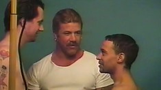Studs Jeremy and Donnie get horny and bang Brad in every possible way
