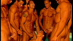 Lots of hot gay guys with awesome bodies have an intense fuck fest