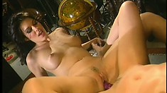 Holly and Nikki finger each other's holes and their bodies shudder with pleasure