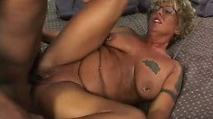 Grandma is packing some nice booty and is willing to give it to her black lover