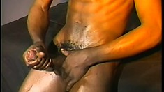 Hot black guy with a great body reveals how much he loves to masturbate