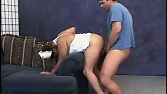Fat momma nurse in a threesome sucking and fucking two pricks