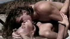 Horny lesbians move all over the property licking and toying pussy