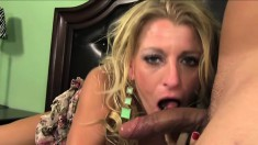 Beautiful blonde Avonna gets rough pounding and squirts nicely