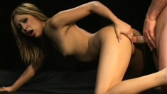 Slim Asian babe reveals her footjob skills and gets fucked in the ass