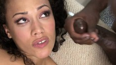 Cassidy Clay has a hung black stud filling her pink pussy with semen