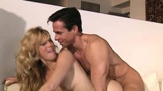 Blonde hottie with lovely tits Missy gets fucked hard by Peter North