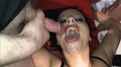 Nasty bitches don't care how they fuck or if cum and pee covers them