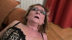 Naughty mature lady in lingerie takes a big black cock for a wild ride