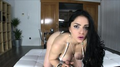 Big breasted girl reveals her oral abilities and then gets nailed hard