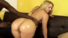 Bodacious Latina with a sublime booty Kira Lynn enjoys a black stick