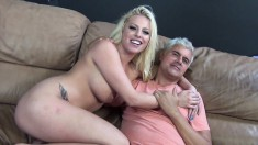 Brittney Amber toys her honey hole and works her magic on a big dick