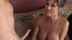 Delightful housewife with big hooters gets her tight ass drilled hard