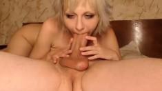 Amateur hottie nice blow big cock on webcam