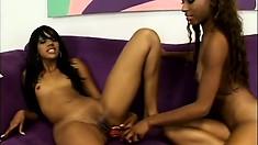 Kapri Styles and Tina Price take turns pleasuring each other