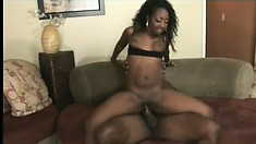 Chubby black babe with a great butt takes it from her big pimp