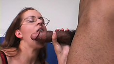 Horny blonde housewife wildly bounces on his big black rod and screams with pleasure