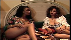 Curly Ebony Witch Is Licking Trimmed Peach Of Her Sexy Partner