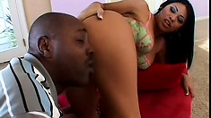 Cassandra Cruz takes the time to enjoy this gigantic black dick to the full