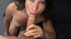 Lena's hairy cunt quivers when his cock comes in close contact