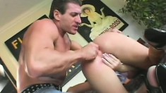 Brilliant whore gets her beautiful booty slapped and screwed