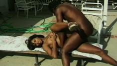 Voluptuous black babe loves to get drilled by her hot boyfriend