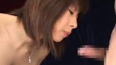 Nasty Asian girls can't get enough sperm streaming down their throats