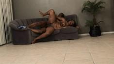 Ebony hottie with big tits Nikole Richie can't resist a hung black guy