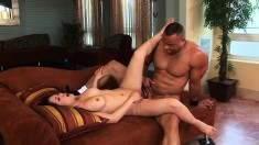 Kaiya Lynn spreads her legs and begs her hung lover to nail her