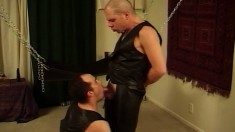 Leather Studs Exchange Oral Pleasures And Indulge In Hard Anal Action