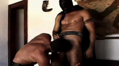 Submissive Guy Has A Masked Stud Roughly Fucking His Tight Anal Hole