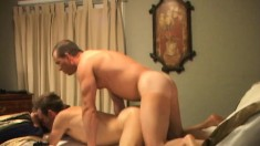 Drew Taylor is surprised jerking off and gets a big dick in his ass