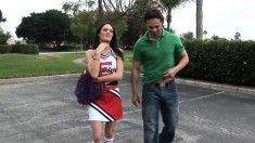 Cheerleader Is Brought Home To Suck His Dick And Take A Ride On It