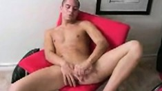 Good-looking young Romeo is eager to play with his stiff piston