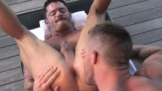 Tattooed Guy With A Ripped Body Braces Himself For A Hard Anal Fucking