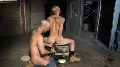 A Couple Of Naughty Costruction Workers Can't Wait To Use A Toy