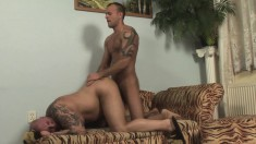 Hot boy gets on all fours and relishes a deep anal banging doggy style