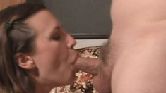 Amateur girlfriend blowjob and anal with creampie
