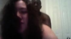 Interracial sex with brunette MILF