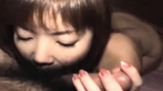 Amateur Japanese teen gives blowjob Uncensored