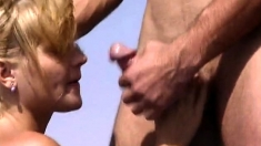 Mature Milf Brandi Love Outdoor Blowjob And Hot Fucking