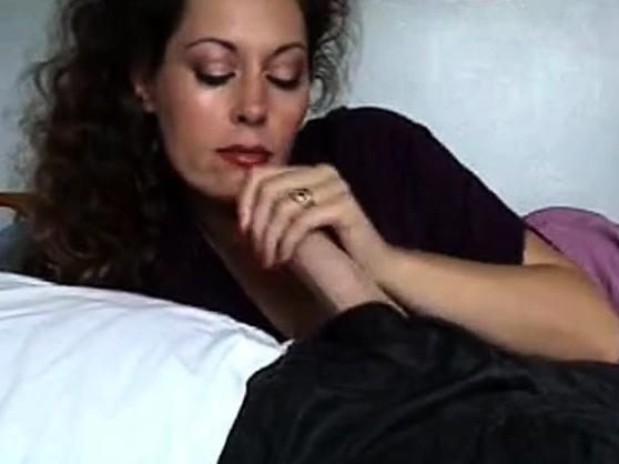 Mature milf wife gives handjob