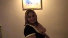 British Latex Amateur Maid Riding Cock