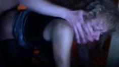 Blonde MILF in nylon stockings fucked on webcam