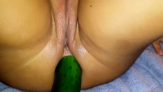 huge cucumber in the ass 2